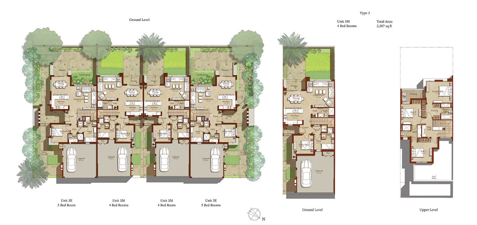 Maple Townhouses by Emaar - Floor Plan