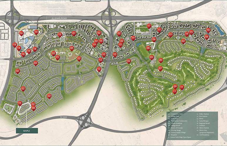 Maple Townhouses by Emaar Master Plan